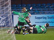 Dundee celebrate Gavin Thompson's goal - Dundee v Forth Valley, Scottish Schools FA Senior Cup Final at Dens Park..© David Young - 5 Foundry Place - Monifieth - DD5 4BB - Telephone 07765 252616 - email: davidyoungphoto@gmail.com - web: www.davidyoungphoto.co.uk