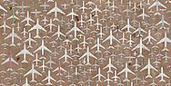 Imagem construida a partir de centenas de fotografias aereas realizadas sobre o deserto do Arizona