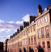 Georgian houses, Bennett Street, Bath, England