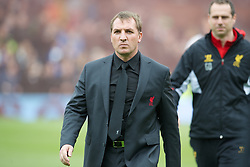LONDON, ENGLAND - Sunday, May 12, 2013: Liverpool's manager Brendan Rodgers before the Premiership match against Fulham at Craven Cottage. (Pic by David Rawcliffe/Propaganda)