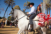 Riders at the Jerez horse fair, Andalusia
