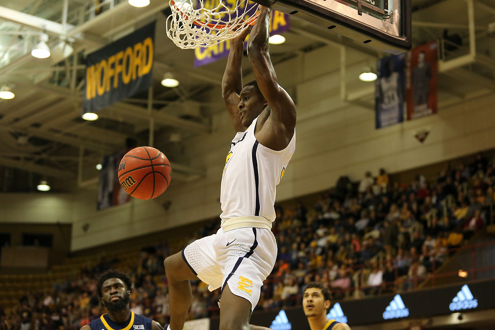 March 3, 2018 - Asheville, North Carolina - U.S. Cellular Center: ETSU guard Bo Hodges (3)<br /> <br /> Image Credit: Dakota Hamilton/ETSU