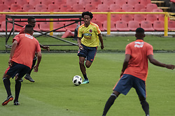 BOGOTA, May 25, 2018  Juan Guillermo Cuadrado (C) of Colombia's national soccer team takes part in a training session before the Russia 2018 FIFA World Cup finals, in Bogota, capital of Colombia, on May 24, 2018.  da) (vf) (Credit Image: © Jhon Paz/Xinhua via ZUMA Wire)