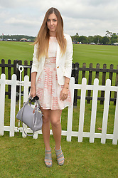 AMBER LE BON at the Cartier Queen's Cup Polo final at Guard's Polo Club, Smiths Lawn, Windsor Great Park, Egham, Surrey on 14th June 2015