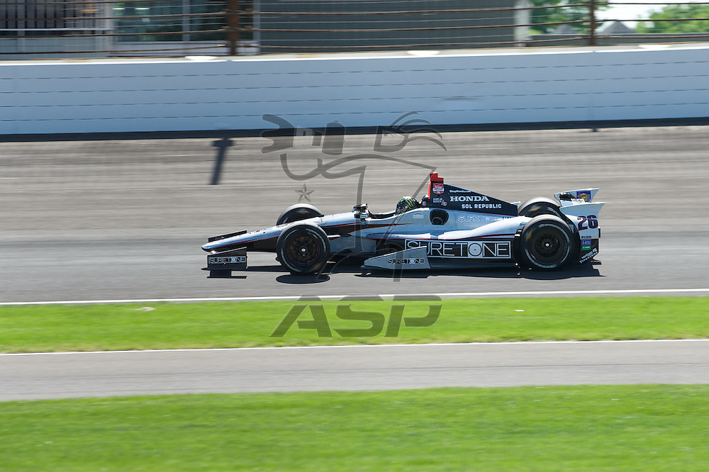 Indianapolis, IN - May 23rd, 2014:  Kurt Busch (26) takes to the track during Carb Day for the Indianapolis 500 IndyCar race in Indianapolis, IN.  <br /> <br /> MANDATORY PHOTO CREDIT:  Walter G. Arce, Sr. KBI/ActionSportsInc.com