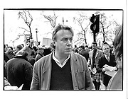 Christopher Hitchens, Countryside Alliance March© Copyright Photograph by Dafydd Jones 66 Stockwell Park Rd. London SW9 0DA Tel 020 7733 0108 www.dafjones.com