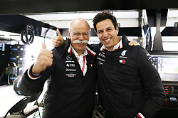 April 14, 2019 - Shanghai, China - Motorsports: FIA Formula One World Championship 2019, Grand Prix of China, ..Dr. Dieter Zetsche (GER, Chairman of the Board of Management of Daimler AG, Head of Mercedes-Benz Cars), Toto Wolff (AUT, Mercedes AMG Petronas Motorsport) (Credit Image: © Hoch Zwei via ZUMA Wire)