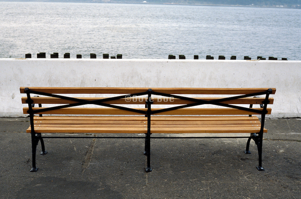 bench overlooking water