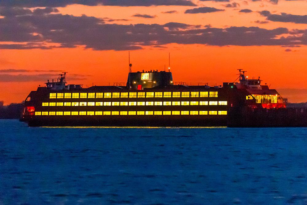 Staten Island Ferry, New York, New York USA.