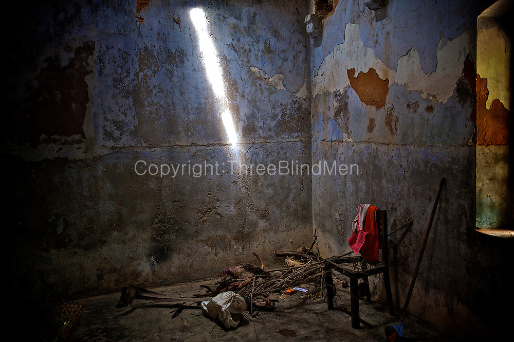 Abandoned room with chair.<br />