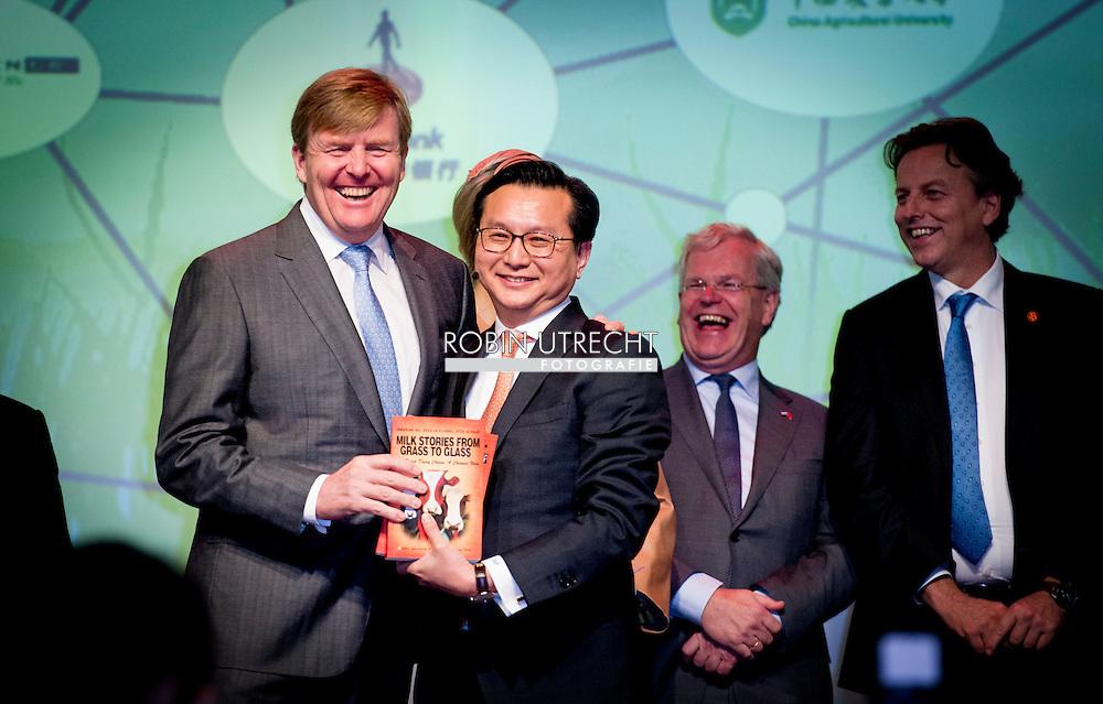 25-10-2015 beijing -  King Willem Alexander and Queen Maxima  visit the Sino-Dutch Diary Development Center .  King Willem Alexander and Queen Maxima will visit China for a 5 day state visit from 25 till 29 oktober 2015  . COPYRIGHT ROBIN UTRECHT