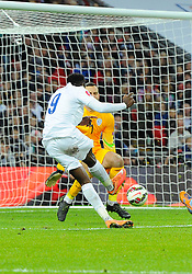 Danny Welbeck of England (Arsenal) scores his second goal of the game  - Photo mandatory by-line: Joe Meredith/JMP - Mobile: 07966 386802 - 15/11/2014 - SPORT - Football - London - Wembley - England v Slovenia - EURO 2016 Qualifier