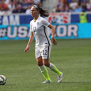 Lauren Holiday, U.S. Women's National Team in action during the U.S. Women's National Team Vs Korean Republic, International Soccer Friendly in preparation for the FIFA Women's World Cup Canada 2015. Red Bull Arena, Harrison, New Jersey. USA. 30th May 2015. Photo Tim Clayton