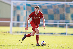 BLACKBURN, ENGLAND - Saturday, January 6, 2018: Liverpool's Tom Clayton during an Under-18 FA Premier League match between Blackburn Rovers FC and Liverpool FC at Brockhall Village Training Ground. (Pic by David Rawcliffe/Propaganda)
