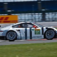 #91 Porsche 911 RSR, Porsche Team Manthey (drivers: Christensen, Lietz, Bergmeister) at the 6 Hours of Silverstone 2015