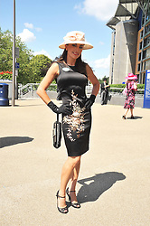 Singer Gabriella Irimia at at the first day of the 2009 Royal Ascot racing festival on 16th June 2009.