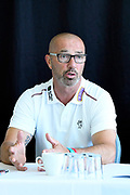 Director of Cricket Matt Maynard in the press conference during the Somerset County Cricket Club PhotoCall 2017 at the Cooper Associates County Ground, Taunton, United Kingdom on 5 April 2017. Photo by Graham Hunt.