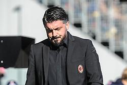 December 26, 2018 - Frosinone, Italy - Gennaro Gattuso manager of Milan during the Serie A match between Frosinone Calcio and AC Milan at Stadio Benito Stirpe on December 26, 2018 in Frosinone, Italy. (Credit Image: © Federica Roselli/NurPhoto via ZUMA Press)