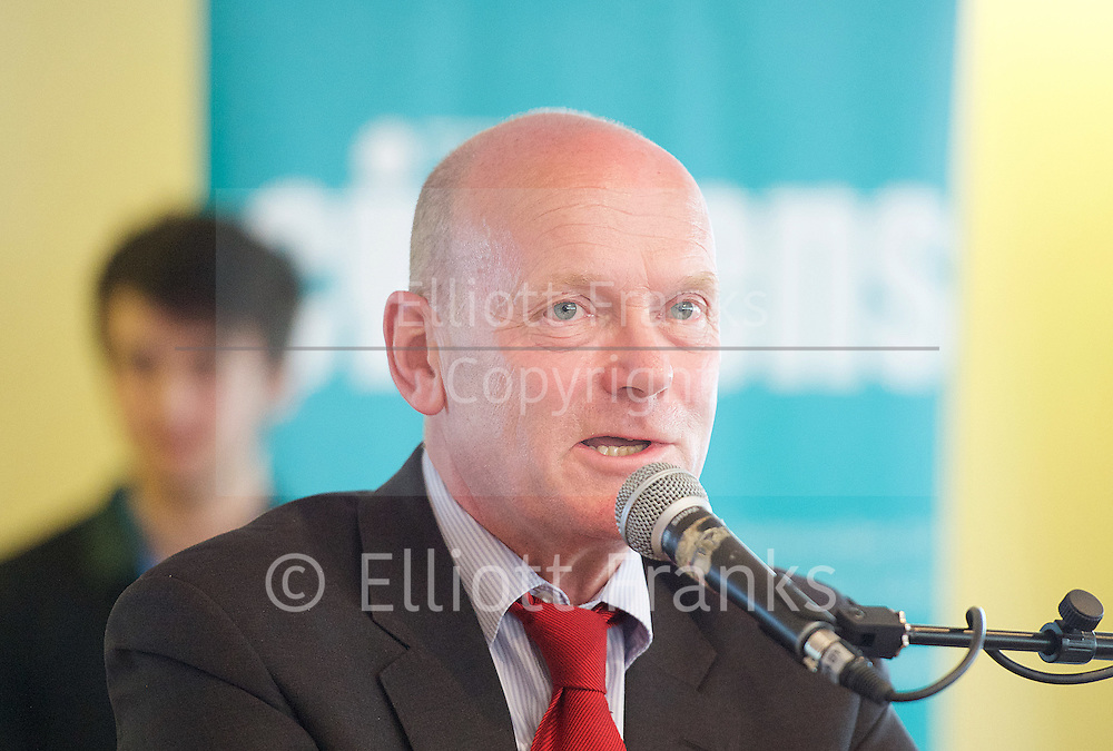 East London Citizens UK and TELCO <br /> Tower Hamlets Mayoral Election event at the WaterLily, Mile End Road, London, Great Britain <br /> 3rd June 2015 <br /> <br /> John Biggs <br /> Labour Candidate <br /> a Labour and Co-operative Party politician and member of the London Assembly representing the City and East constituency.<br /> <br /> Photograph by Elliott Franks <br /> Image licensed to Elliott Franks Photography Services
