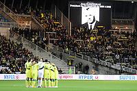 Supporters Nantes - Groupe Nantes - Hommage Jean CLERFEUILLE - 31.01.2015 - Nantes / Lille - 23eme journee de Ligue 1 -<br />Photo : Vincent Michel / Icon Sport