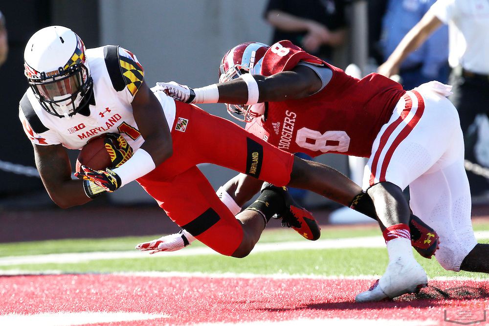 27 September 2014: Maryland Terrapins wide receiver Juwann Winfree (81) as the Indiana Hoosiers played Maryland in a college football game in Bloomington, IN.
