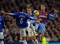 Photo: Paul Greenwood.<br />Everton v Aston Villa. The Barclays Premiership. 11/11/2006. Everton player Mikel Arteta, left and Villa player Chris Sutton challenge for the ball.