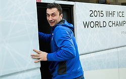Sabahudin Kovacevic of Slovenia in a bus of Slovenian Ice Hockey National Team after meeting with their supporters at day off during 2015 IIHF World Championship, on May 9, 2015 in Restaurant Zadni Vratka, Stodolni Street, Ostrava, Czech Republic. Photo by Vid Ponikvar / Sportida