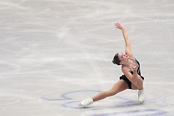 © Licensed to London News Pictures. 27/01/2017. Ostrava, CZ. Loena HENDRICKX, from Belgium, performs her Ladies Free Skating routine during the ISU European Figure Skating Championships in the Ostrava Arena in Ostrava, Czech Republic, on Friday January 27, 2017. Photo credit: Isabel Infantes/LNP