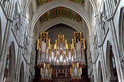 THEMENBILD - Madrid ist seit Jahrhunderten der geographische, politische und kulturelle Mittelpunkt Spaniens (siehe Kastilien) und der Sitz der spanischen Regierung. Hier residieren auch der König, ein katholischer Erzbischof sowie wichtige Verwaltungs- und Militärbehörden. Als Handels- und Finanzzentrum hat die Stadt nationale und internationale Bedeutung. Hier im Bild Grenzing-Orgel, Innenansicht, Catedral de Nuestra Senora de la Almudena, Santa Maria la Real de La Almudena, Almudena-Kathedrale // THEMATIC PACKAGES - Madrid is the capital and largest city of Spain. The population of the city is roughly 3.3 million and the entire population of the Madrid metropolitan area is calculated to be around 6.5 million. It is the third-largest city in the European Union, after London and Berlin, and its metropolitan area is the third-largest in the European Union after London and Paris. The city spans a total of 604.3 km2. EXPA Pictures © 2014, PhotoCredit: EXPA/ Eibner-Pressefoto/ Weber<br /> <br /> *****ATTENTION - OUT of GER*****