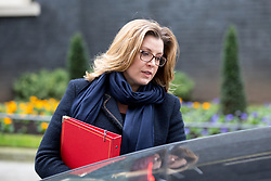 © Licensed to London News Pictures. 29/01/2018. London, UK. International Development Secretary Penny Mordaunt leaving Downing Street after attending a Brexit meeting this morning. Photo credit : Tom Nicholson/LNP