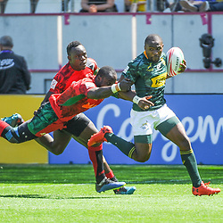 Siviwe Soyizwapi of South Africa during the match between Kenya and South Africa at the HSBC Paris Sevens, stage of the Rugby Sevens World Series on June 1, 2019 in Angers, France. (Photo by Sandra Ruhaut/Icon Sport)