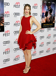 Taissa Farmiga at the AFI FEST 2016 Opening Night Premiere of 'Rules Don't Apply' held at the TCL Chinese Theatre in Hollywood, USA on November 10, 2016.