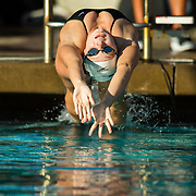 01 December 2017:  The San Diego State women's swim and dive team competes against UCSD and Pepperdine at the SDSU Aquaplex.<br /> www.sdsuaztecphotos.com