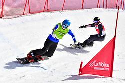 PRIOLO Paolo, SB-UL, ITA, MAYRHOFER Patrick, AUT, Snowboard Cross at the WPSB_2019 Para Snowboard World Cup, La Molina, Spain