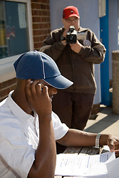 Entry 2 Employment student filming fellow student; Sycamore Centre Nottingham,