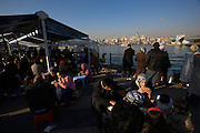 Istanbul. Barbecued fish fresh from boats anchored on the Golden Horn (Halic?) near Galata Bridge.