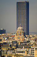 France. Paris. elevated view.  Paris view from the bell tower of Saint Louis church in the hopital Salpetriere.  Grace