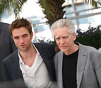 Actor Robert Pattinson and Director David Cronenberg, Cosmopolis photocall at the 65th Cannes Film Festival France. Cosmopolis is directed by David Cronenberg and based on the book by writer Don Dellilo.  Friday 25th May 2012 in Cannes Film Festival, France.
