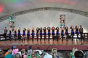 Photo of Irish Dancers onstage at the Dublin Irish Festival in Dublin, Ohio.