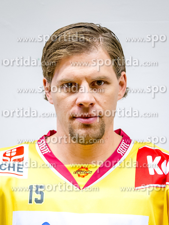 21.08.2013, Albert Schultz Halle, Wien, AUT, EBEL, Spielerportraits UPC Vienna Capitals, im Bild Francois Fortier , (UPC Vienna Capitals, #15)// during UPC Vienna Capitals Player Portrait Session at the Albert Schultz Halle, Wien, Austria on 2013/08/21. EXPA Pictures © 2013, PhotoCredit: EXPA/ Sebastian Pucher