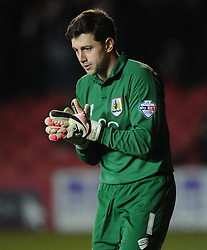 Bristol City Goalkeeper, Frank Fielding  - Photo mandatory by-line: Joe Meredith/JMP - Mobile: 07966 386802 - 10/02/2015 - SPORT - Football - Bristol - Ashton Gate - Bristol City v Port Vale - Sky Bet League One