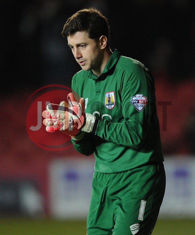Bristol City Goalkeeper, Frank Fielding  - Photo mandatory by-line: Joe Meredith/JMP - Mobile: 07966 386802 - 10/02/2015 - SPORT - Football - Bristol - Ashton Gate - Bristol City v Port Vale - Sky Bet League One