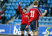 Fotball, 28. april 2004, Privatlandskamp, Norge-Russland,  Martin Andresen, Norge gjør 1-0