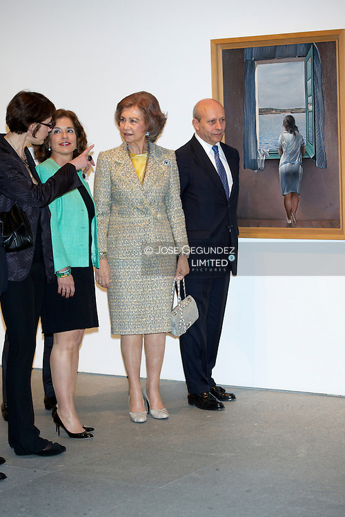 Queen Sofia of Spain attends the Opening of the exhibition 'Dali. All suggestions poetic and all the plastic possibilities' at Reina Sofia Museum on April 26, 2013 in Madrid