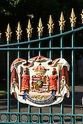 State Seal, Iolani Palace, Honolulu, Oahu, Hawaii<br />