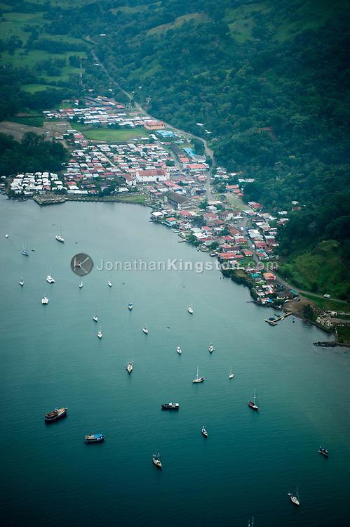 Aerial view of Portobelo, Panama.