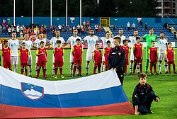 Team Slovenia listening to the national anthem during friendly football match between National Teams of Montenegro and Slovenia, on June 2, 2018 in Stadium Pod goricom, Podgorica, Montenegro. Photo by Vid Ponikvar / Sportida
