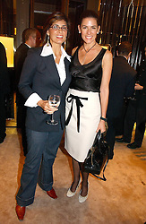 Left to right, sisters MICHELLE ESTRADA and CHRISTINA JUFFALI she was Christina Estrada at a party to ceebrate the bublication of 'The Ravenscar Dynasty' by Barbara Taylor Bradford hld at the newly opened Mousaieff Store, 172 New Bond Street, London on 28th September 2006.<br /><br />NON EXCLUSIVE - WORLD RIGHTS