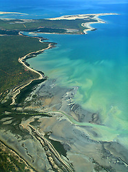 Aerial view of the coast, north of Broome, on the Dampier Peninsula