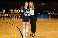 October 31, 2018 - Johnson City, Tennessee - Brooks Gym: ETSU libero Marija Popovic (9), ETSU head coach Lindsey Devine<br /> <br /> Image Credit: Dakota Hamilton/ETSU